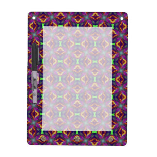 Purple Tulip Fractal Patterned Dry-Erase Board