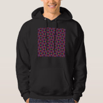 Purple Tulip Fractal Patterned Hoodie