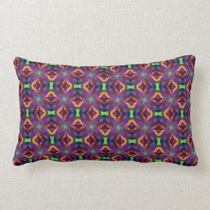 Purple Tulip Fractal Patterned Pillows