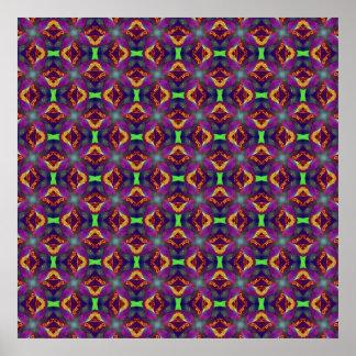 Purple Tulip Fractal Patterned Poster