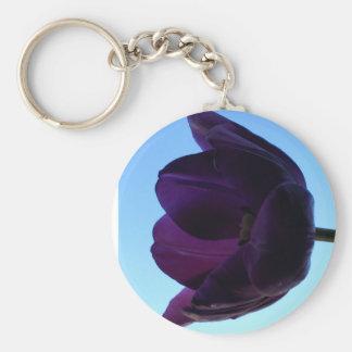 Purple Tulip Keychain