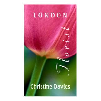 Purple tulip macro photograhy, florist business card templates