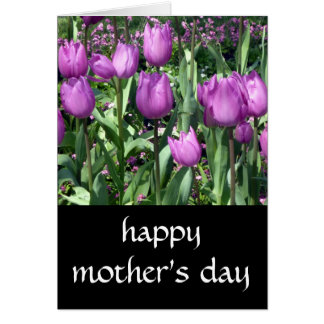 purple tulip mothers day card