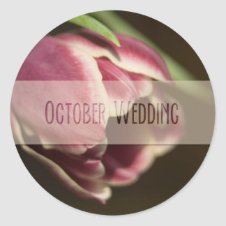 Purple Tulip • October Wedding Sticker