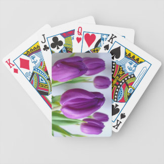 Purple Tulip Playing Cards