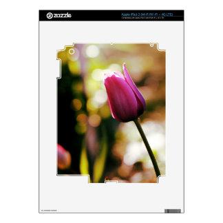 purple tulip iPad 3 decals