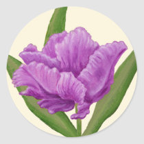 Purple Tulip sticker
