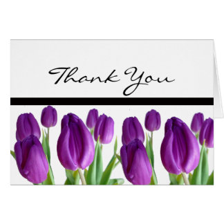 Purple Tulip Thank You Notes