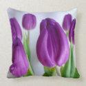 Purple Tulip Throw Pillow throwpillow