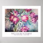 Purple Tulip Watercolor Fine Art Print