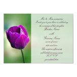 Purple Tulip Wedding Invitation