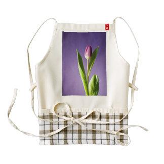 Purple tulip zazzle HEART apron
