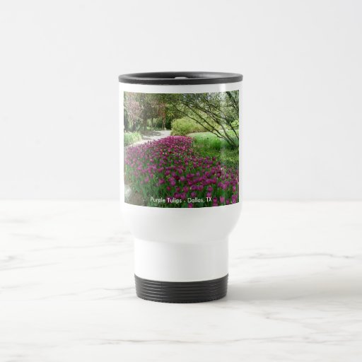 Purple Tulips (3033) Travel Mug