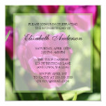 Purple Tulips 80th Birthday Party Invitations