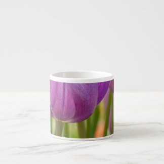 Purple Tulips Blooming in Spring Espresso Cup