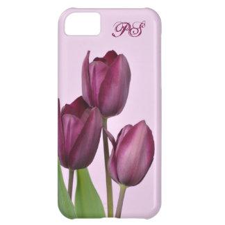 Purple tulips case for iPhone 5C