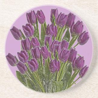 Purple Tulips Coaster