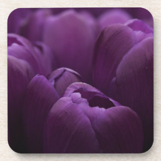 Purple Tulips Drink Coaster