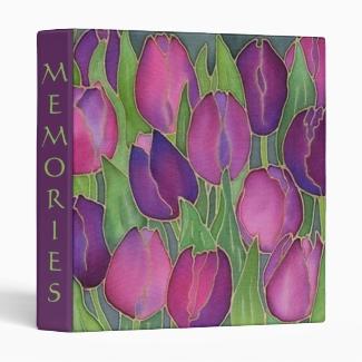 Purple Tulips Design Binder