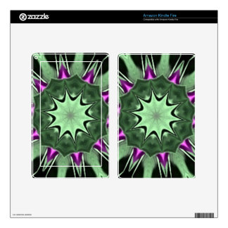 Purple Tulips Floral Kaleidoscope Decals For Kindle Fire