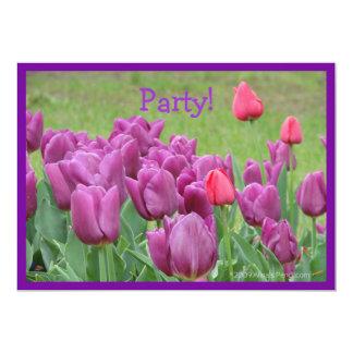 Purple Tulips Flowers Beautiful Blooms Card