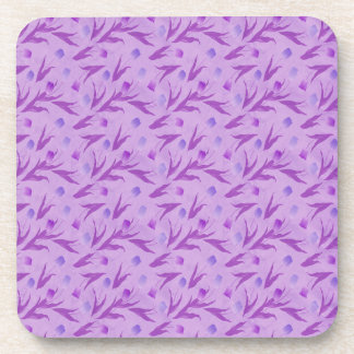 Purple Tulips For Awareness Coasters