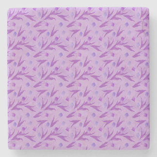 Purple Tulips For Awareness Stone Coaster