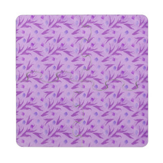 Purple Tulips For Awareness Puzzle Coaster