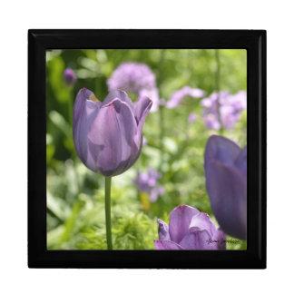Purple Tulips Gift Box
