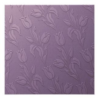 Purple Tulips Invitation