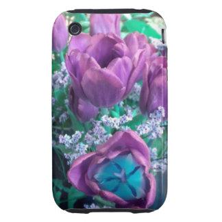 Purple Tulips iPhone 3 case