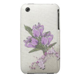 Purple Tulips iPhone 3gs Case