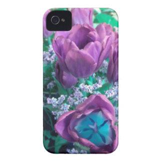 Purple Tulips iPhone 4 case