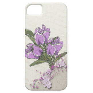 Purple Tulips iPhone 5 Case