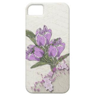 Purple Tulips iPhone 5s Case