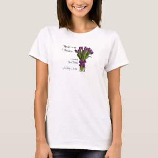 Purple Tulips Ladies T-Shirt