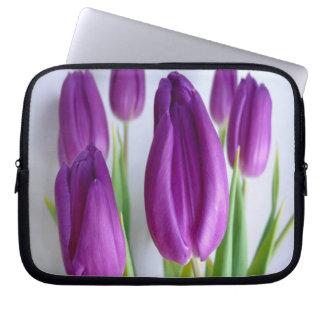 Purple Tulips Laptop Sleeve
