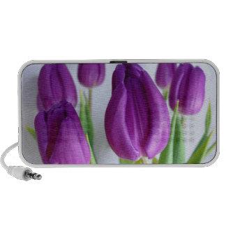 Purple Tulips Laptop Speakers