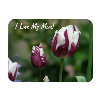 Purple Tulips Mom Magnet