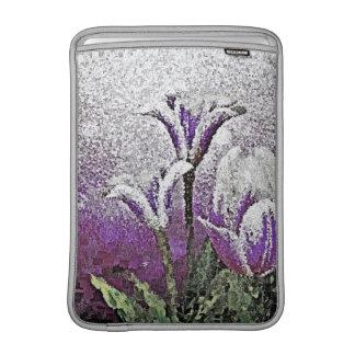 Purple Tulips - Painting Art Macbook Air Sleeves