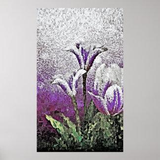 Purple Tulips - Painting Art Posters