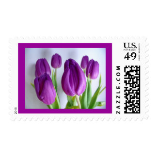 Purple Tulips Postage Stamp ~ Easter, Spring