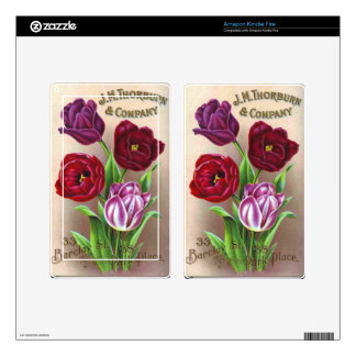 Purple Tulips Decal For Kindle Fire