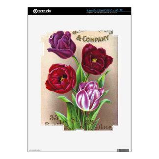 Purple Tulips Skins For iPad 3