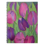 Purple Tulips Spiral-Bound Journal Notebook