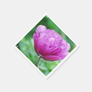 Purple Tulips Paper Napkins