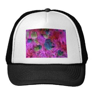 Purple tulips with Brush effect Trucker Hat
