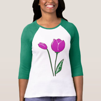 Purple Tulips Women's Bella Raglan T-Shirt