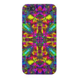 Purple Turquiose and Yellow Mandala Pattern Cover For iPhone 5