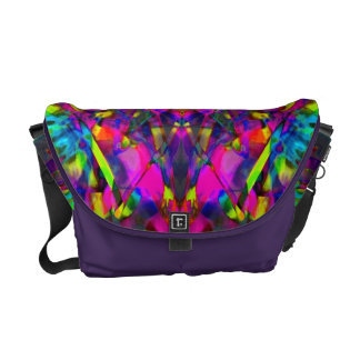 Purple Turquiose and Yellow Mandala Pattern Courier Bags